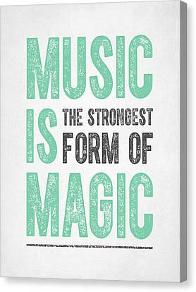 Music Is Magic Canvas Print by Aged Pixel