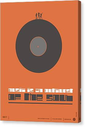 Music Is The Soul Poster Canvas Print