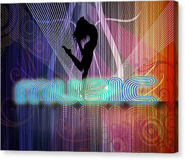 Canvas Print featuring the digital art Music by John Swartz
