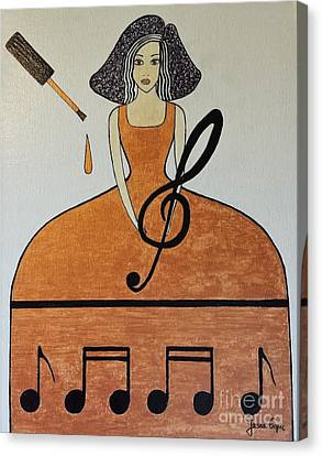 Music Lover Canvas Print by Jasna Gopic