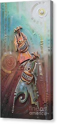 Music Makers Canvas Print by Omidiran Gbolade