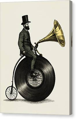 Moustache Canvas Print - Music Man by Eric Fan