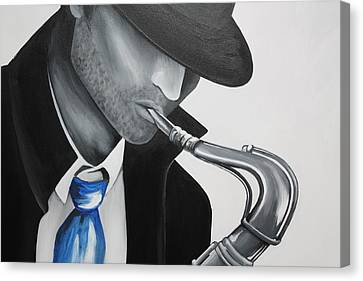 Figures Canvas Print - Music Man II by Allison Liffman