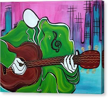 Music Man Canvas Print by Laura Barbosa