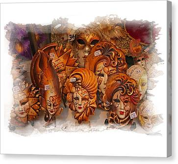 Canvas Print featuring the photograph Music Masks by Judy Deist