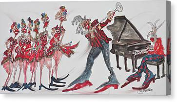 Music Moves The Groove Canvas Print by Suzanne Macdonald