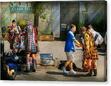 Music - Mummers Preperation Canvas Print by Mike Savad