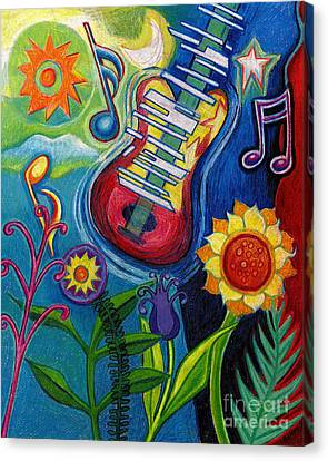 Music On Flowers Canvas Print by Genevieve Esson