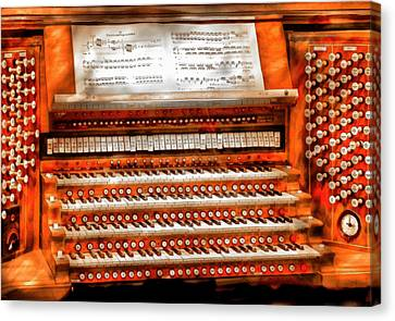 Music - Organist - The Pipe Organ Canvas Print