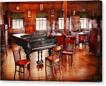 Music - Piano - The Grand Piano Canvas Print by Mike Savad
