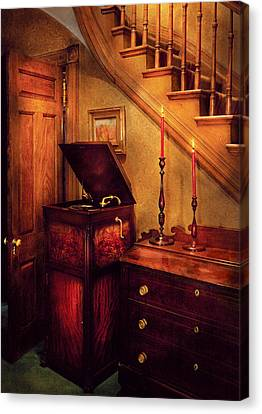 Music - Record - The Victrola Canvas Print by Mike Savad