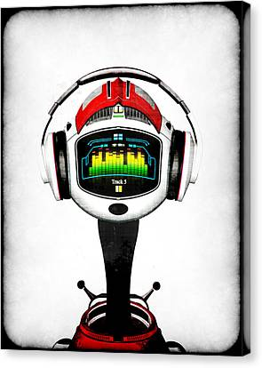 Music Roboto Canvas Print by Frederico Borges