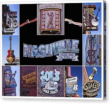 Music Row Nashville  Canvas Print