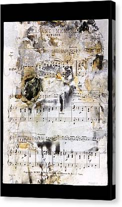 Music Score From The Titanic Canvas Print by Science Photo Library