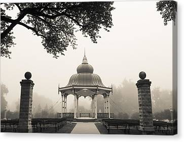 Music Stand In Fog Canvas Print