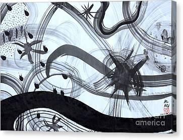 Music Starts Canvas Print by Taikan Nishimoto