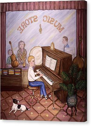 Music Store Canvas Print by Linda Mears