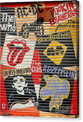 Music Street Art Color Canvas Print by Luciano Mortula