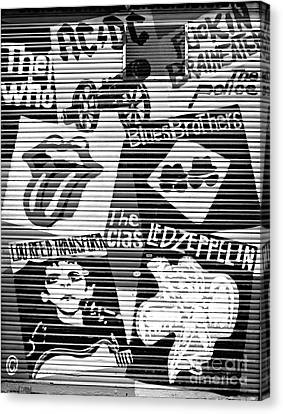 Music Street Art Canvas Print by Luciano Mortula