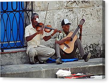 Music-street Musicians Canvas Print