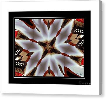 Music Takes Me Back - Musical Kaleidoscope Canvas Print by Barbara Griffin