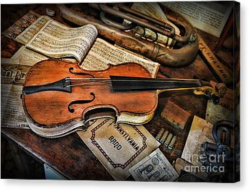 Music - The Violin Canvas Print by Paul Ward