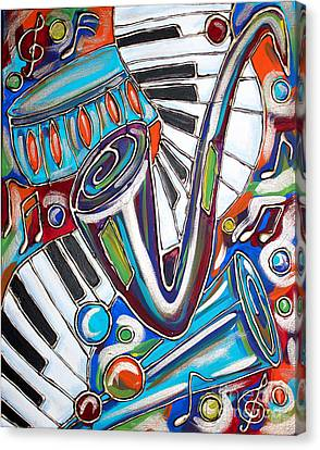 Music Time 2 Canvas Print by Cynthia Snyder