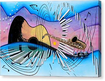 Musica Canvas Print by Angel Ortiz