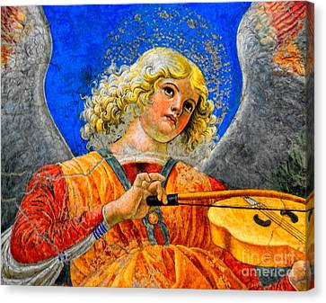 Musical Angel Basking In The Light Of Heaven 2 Canvas Print by Nigel Fletcher-Jones