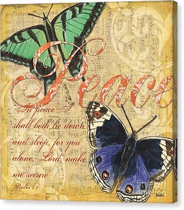Musical Butterflies 2 Canvas Print by Debbie DeWitt