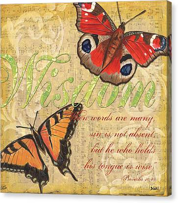 Musical Butterflies 4 Canvas Print by Debbie DeWitt