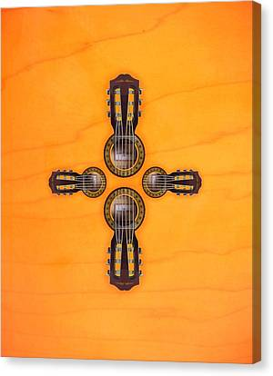 Musical Cross Canvas Print by Doron Mafdoos