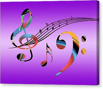 Concert Images Canvas Print - Musical Fantasy by Gill Billington