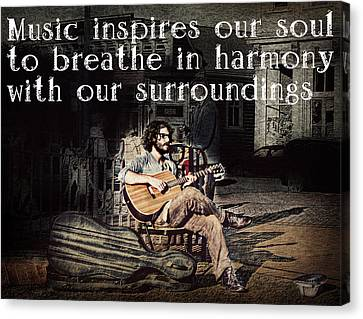 Musical Inspiration Canvas Print by Melanie Lankford Photography