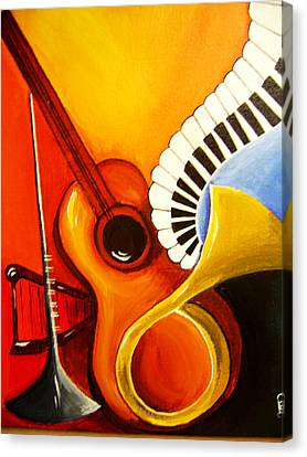 Musical Instruments Canvas Print by Rajni A