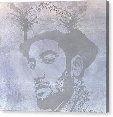 Musical Mind Of Ben Harper Canvas Print by Dan Sproul