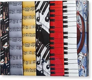 Musical Motifs Canvas Print by Ann Horn