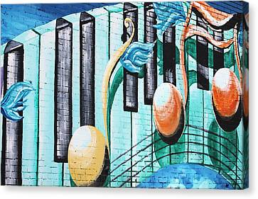 Musical Notes In Deep Ellum Canvas Print by Lorri Crossno