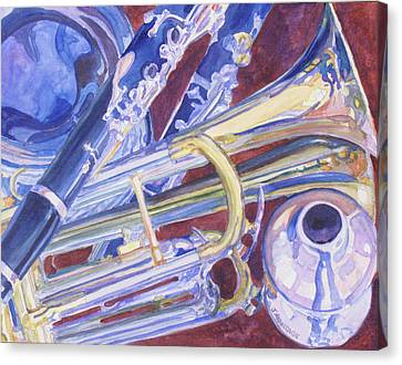 Jazzy Canvas Print - Musical Reflections by Jenny Armitage