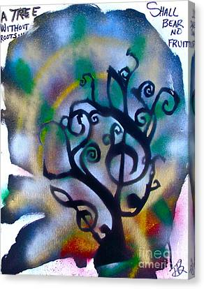 Musical Tree Blue Canvas Print by Tony B Conscious