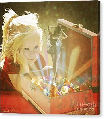 Musicbox Magic Canvas Print by Linda Lees