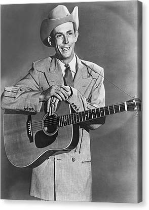 Musician Hank Williams Canvas Print by Underwood Archives