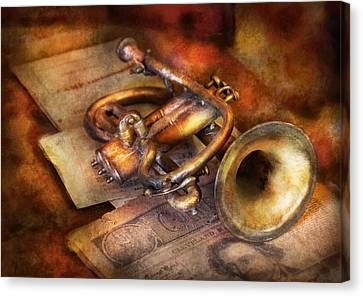 Musician - Horn - Toot My Horn Canvas Print by Mike Savad