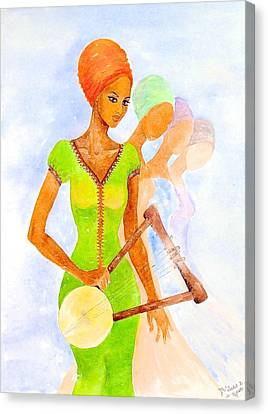 Masai Canvas Print - Musician by Mahlet