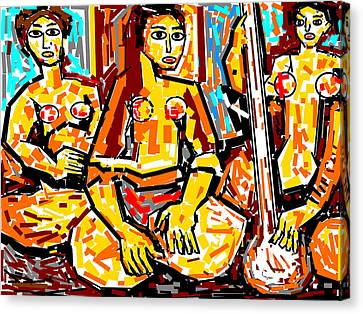 Musicians Canvas Print by Anand Swaroop Manchiraju