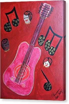 Musique Rouge Canvas Print by Clarissa Burton