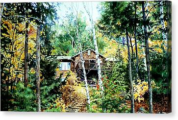 Muskoka Cottage Retreat Canvas Print by Hanne Lore Koehler