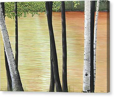 Muskoka Lagoon Canvas Print by Kenneth M  Kirsch
