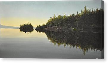 Muskoka Solitude Canvas Print by Kenneth M  Kirsch