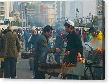 Muslim Chinese Uyghur Minority Food Canvas Print by Panoramic Images
